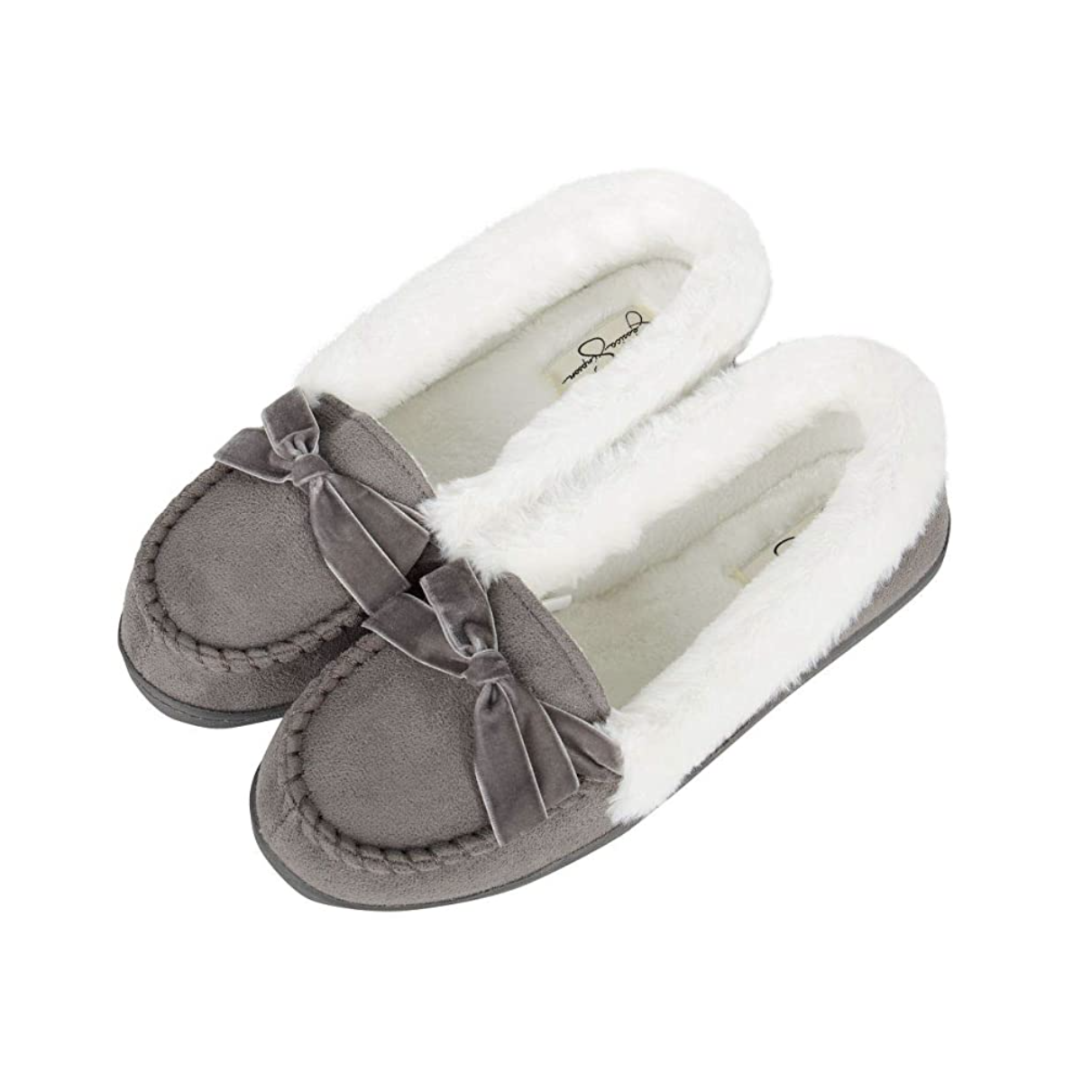 Jessica Simpson Women's Micro Suede Moccasin Bridal Slippers Wedding Day