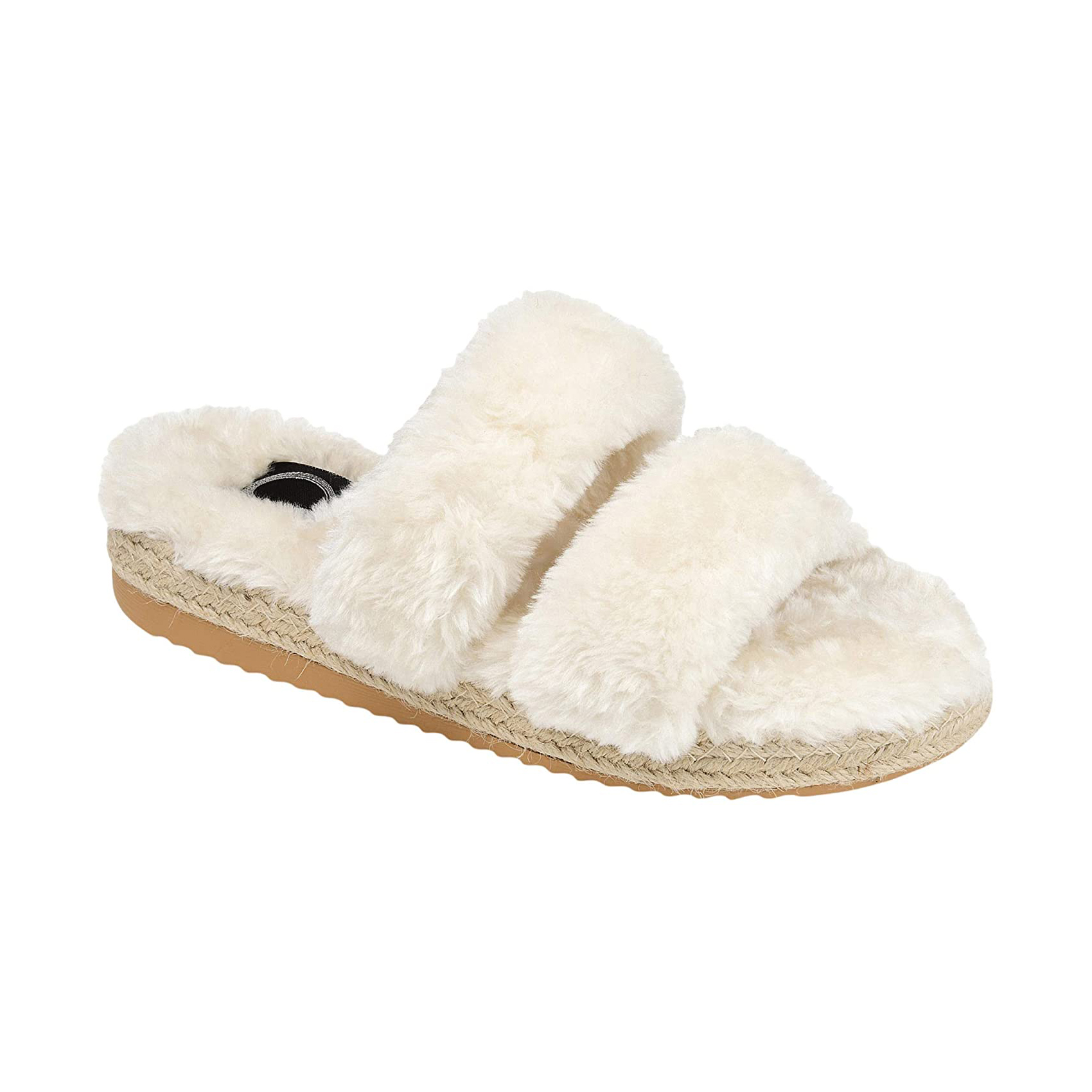 Journee Collection Faux Fur Relaxx Slipper Wedding Day Bridal Slippers