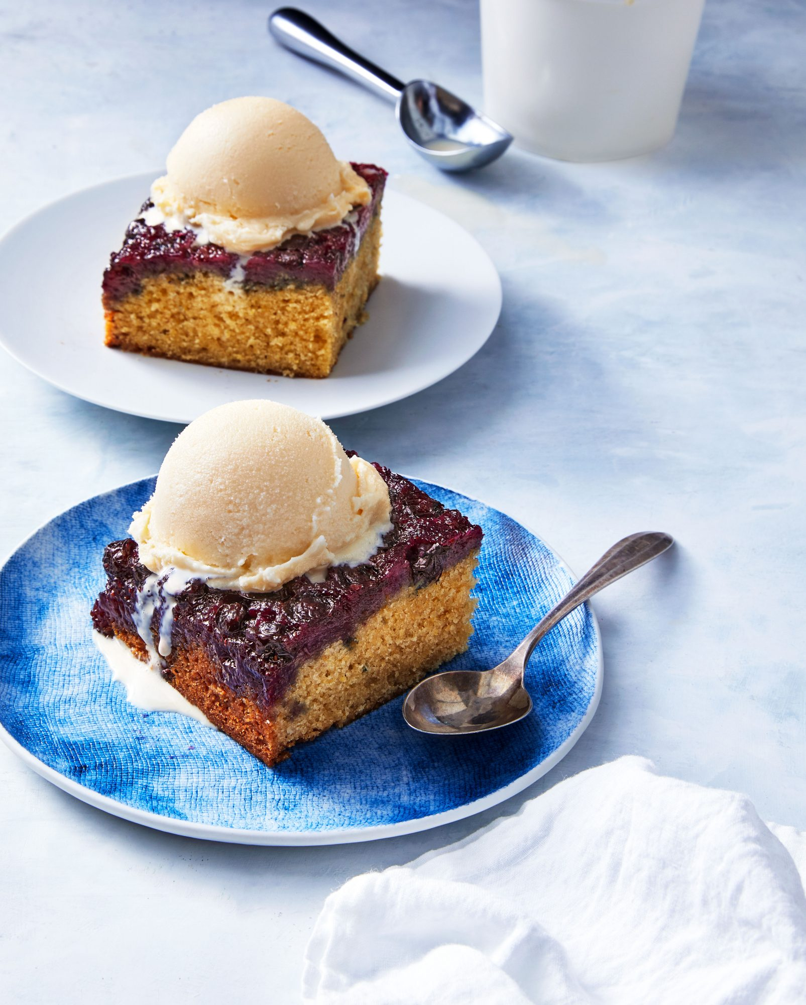blueberry honey upside down cake