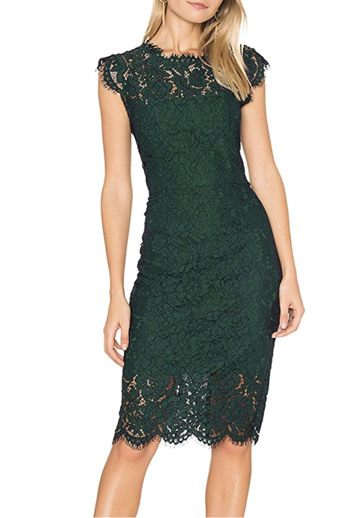 Merokeety Lace Cocktail Dress