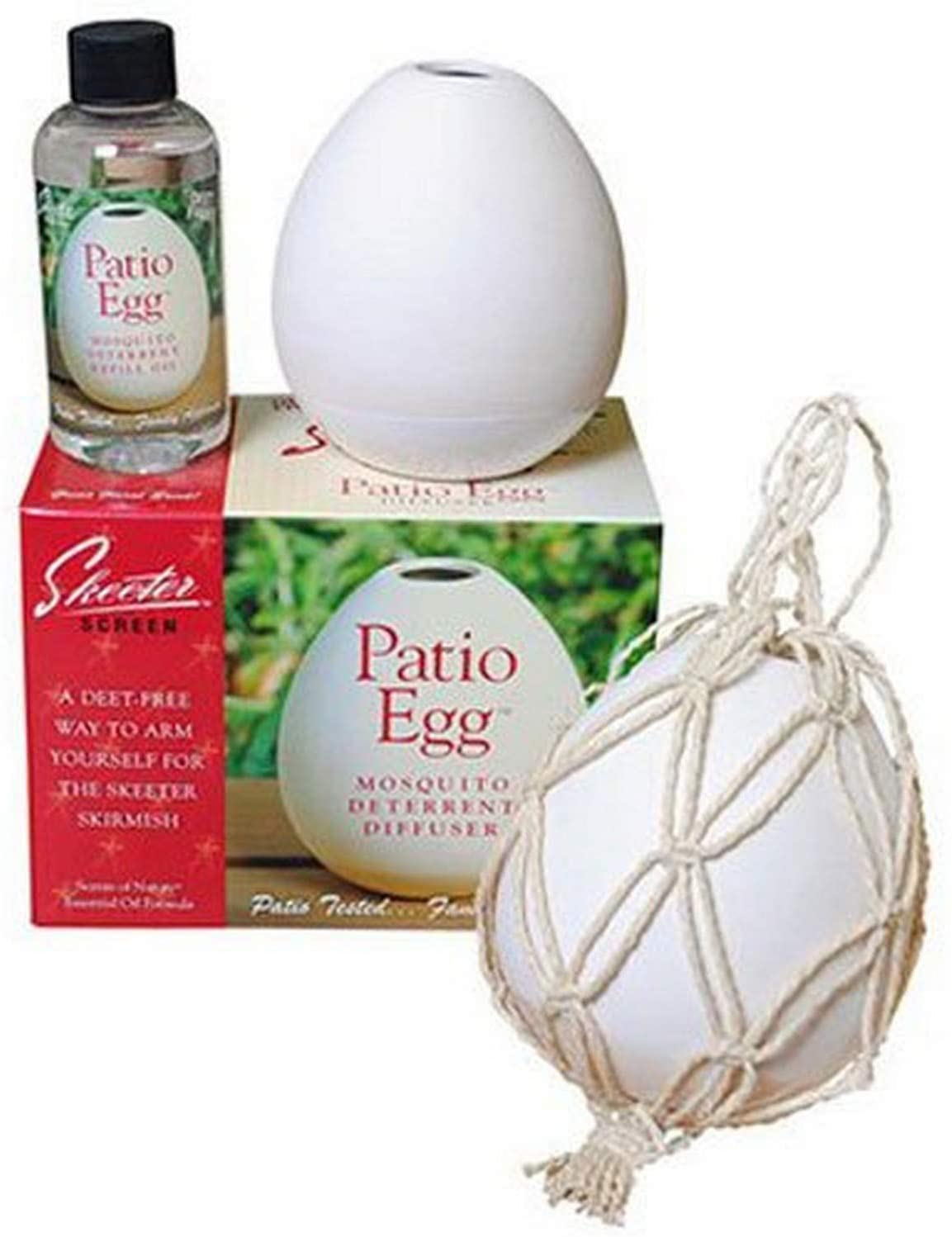 Best Flameless Citronella Candle: Skeeter Screen Patio Egg Diffuser