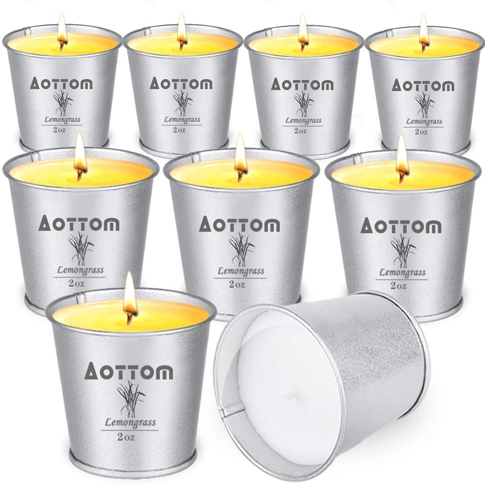 Best Soy Wax Citronella Candle: Aottom Citronella Candles