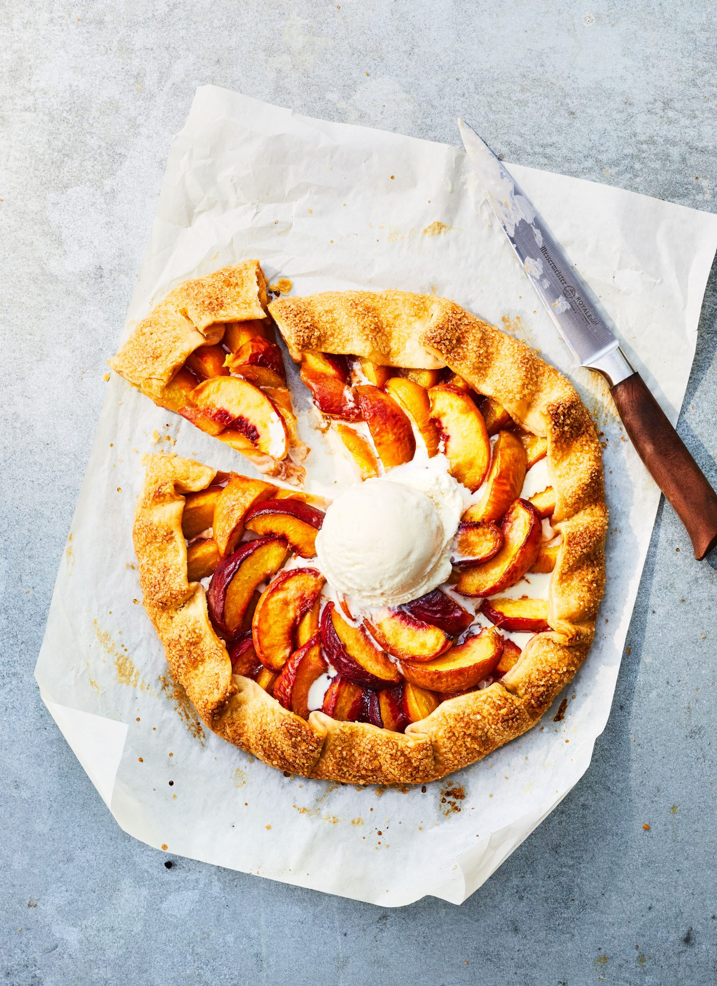 Gingered Peach Galette