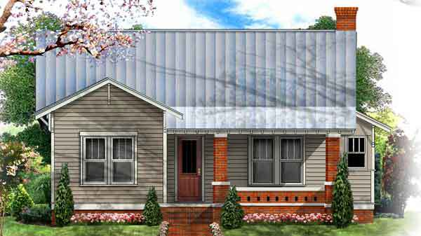 This traditional 1900s bungalow is brimming with curb appeal. Inside, a central hallway separates sleeping quarters on one side and central gathering areas on the other. We'd like to grab a seat in the built-in breakfast booth with wraparound windows.                             Three bedrooms, two-and-a-half baths                             2,023 square feet                             See plan: Bradford Bungalow II (SL-1737)