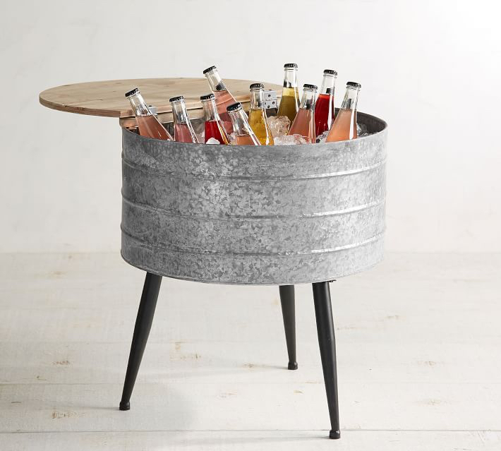 Galvanized Metal Stand-up Cooler
