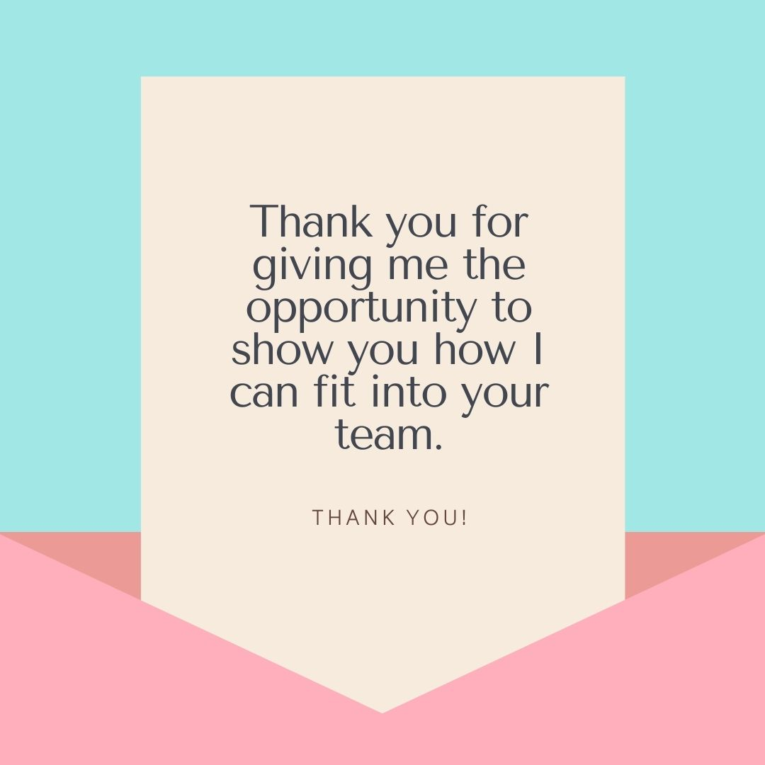 Interview Thank You Note Wording