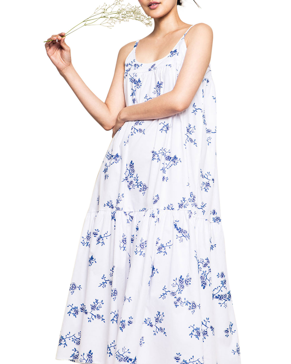 Petite Plume Chloe Floral Cotton Twill Nightgown