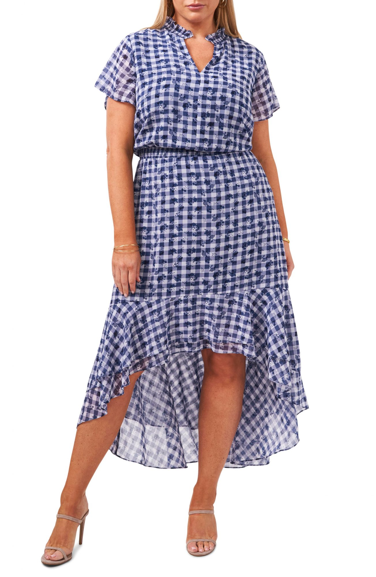1.State Wildflower Bouquet Dress in Gingham Floral