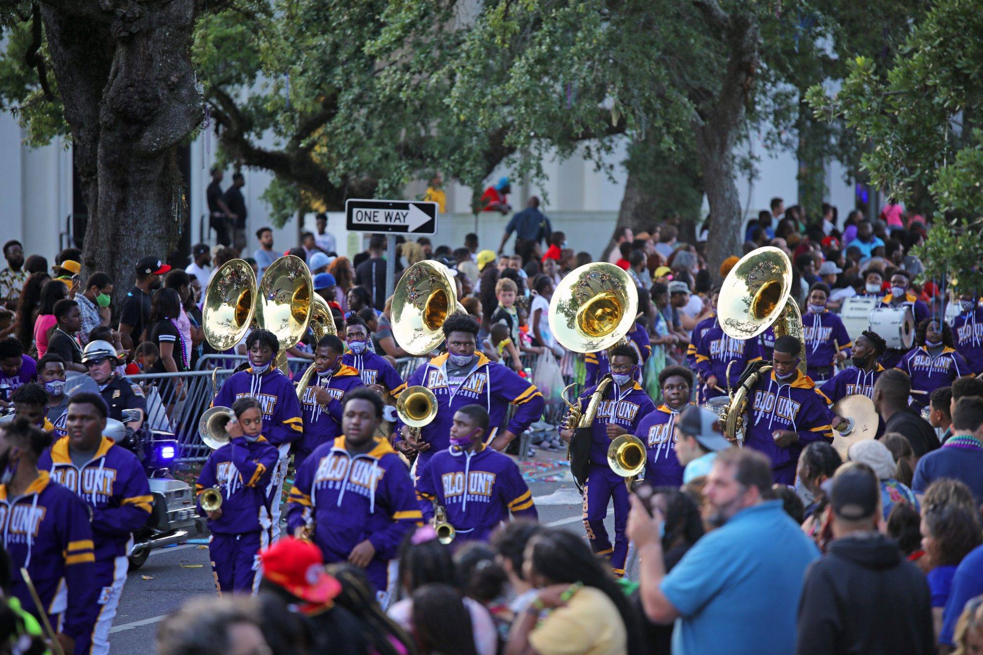 Tardy Gras Parade Mobile AL Marching Band