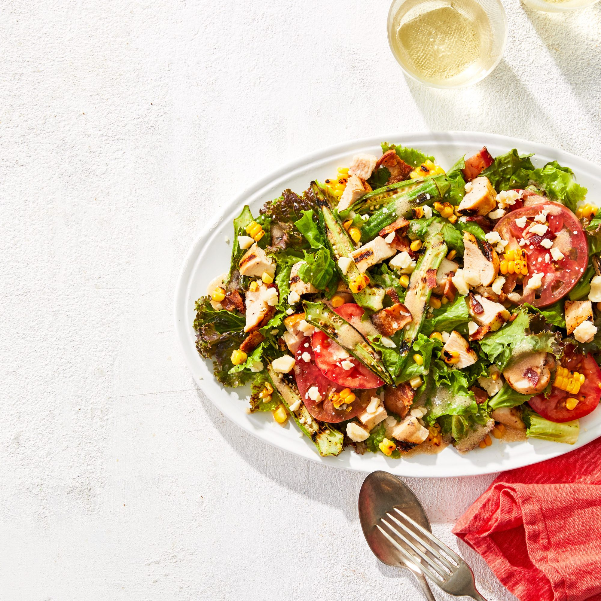 Southern-Style Grilled Cobb Salad
