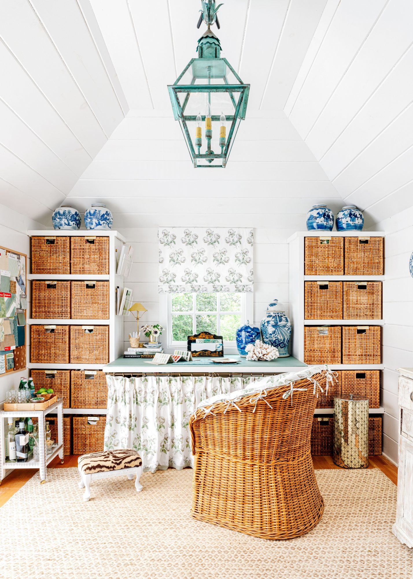 Hillbrook Collections' Garden Shed Office Space with Built-in Desk