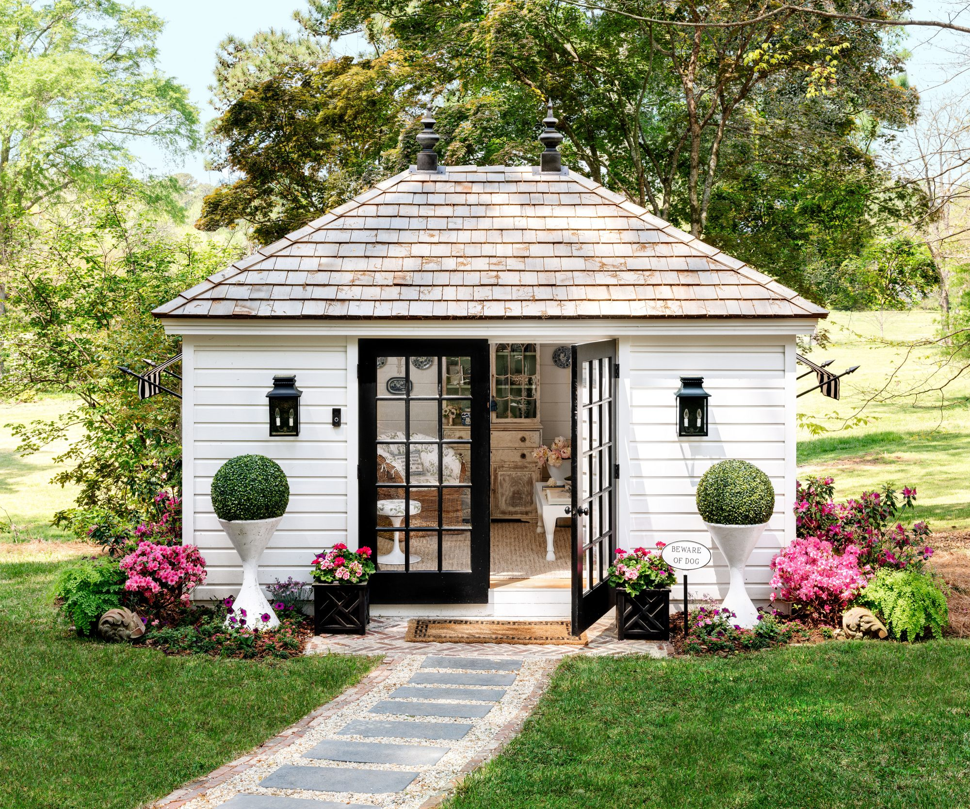 Hillbrook Collections' Garden Shed Office for Allison Allen
