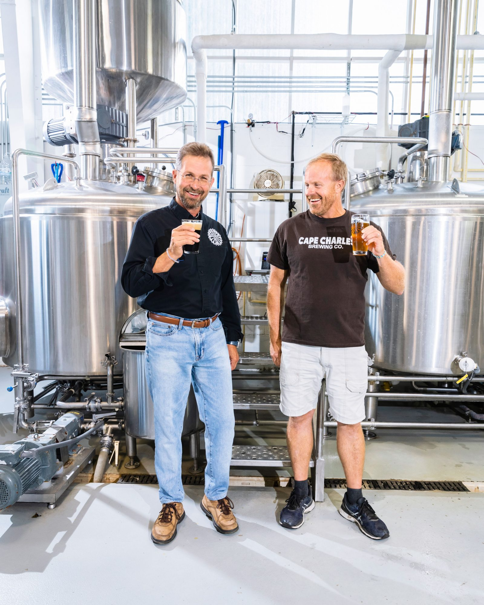 Mark and Chris Marshall of Cape Charles Brewing Company