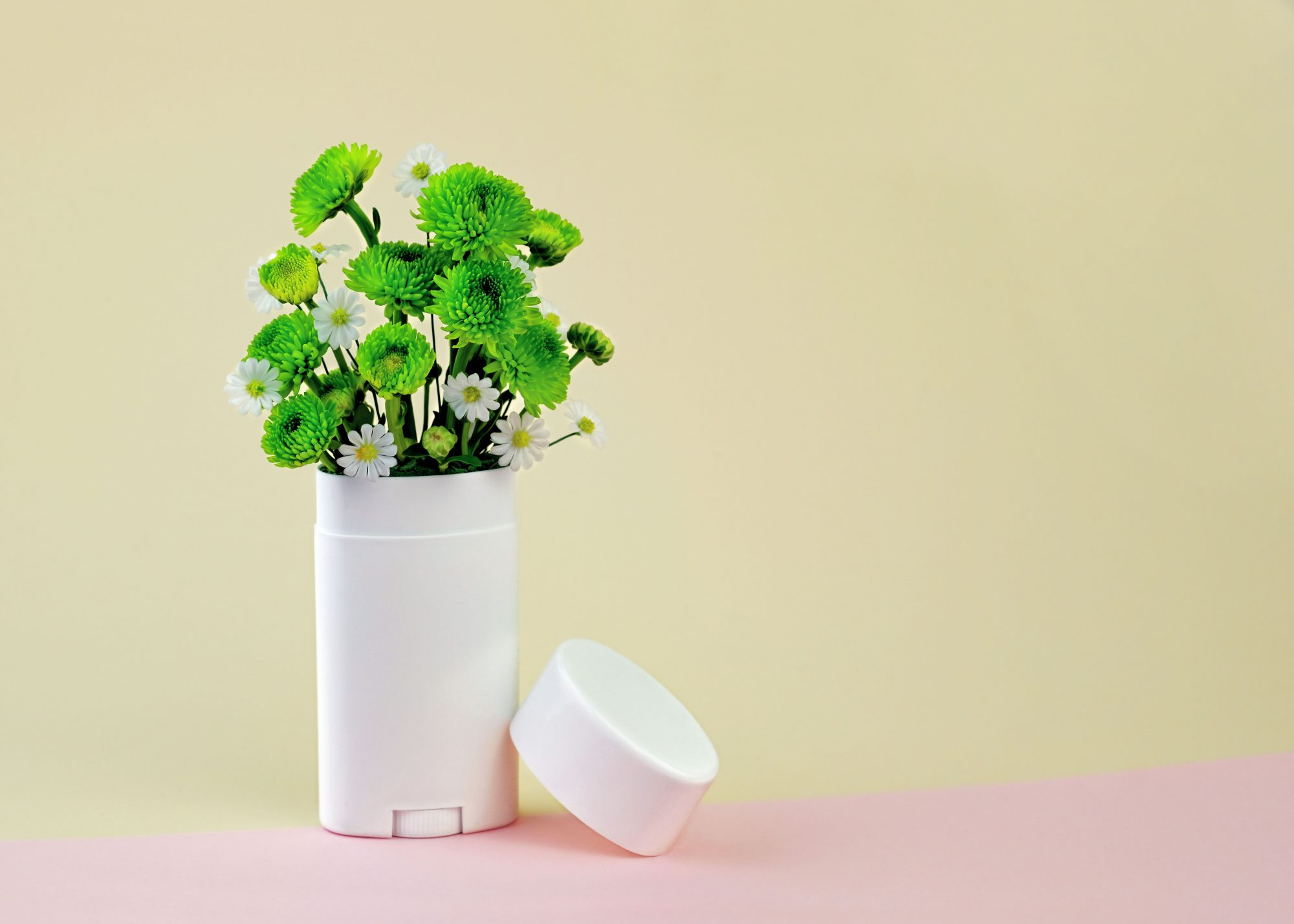 Deodorant Bottle with Flowers