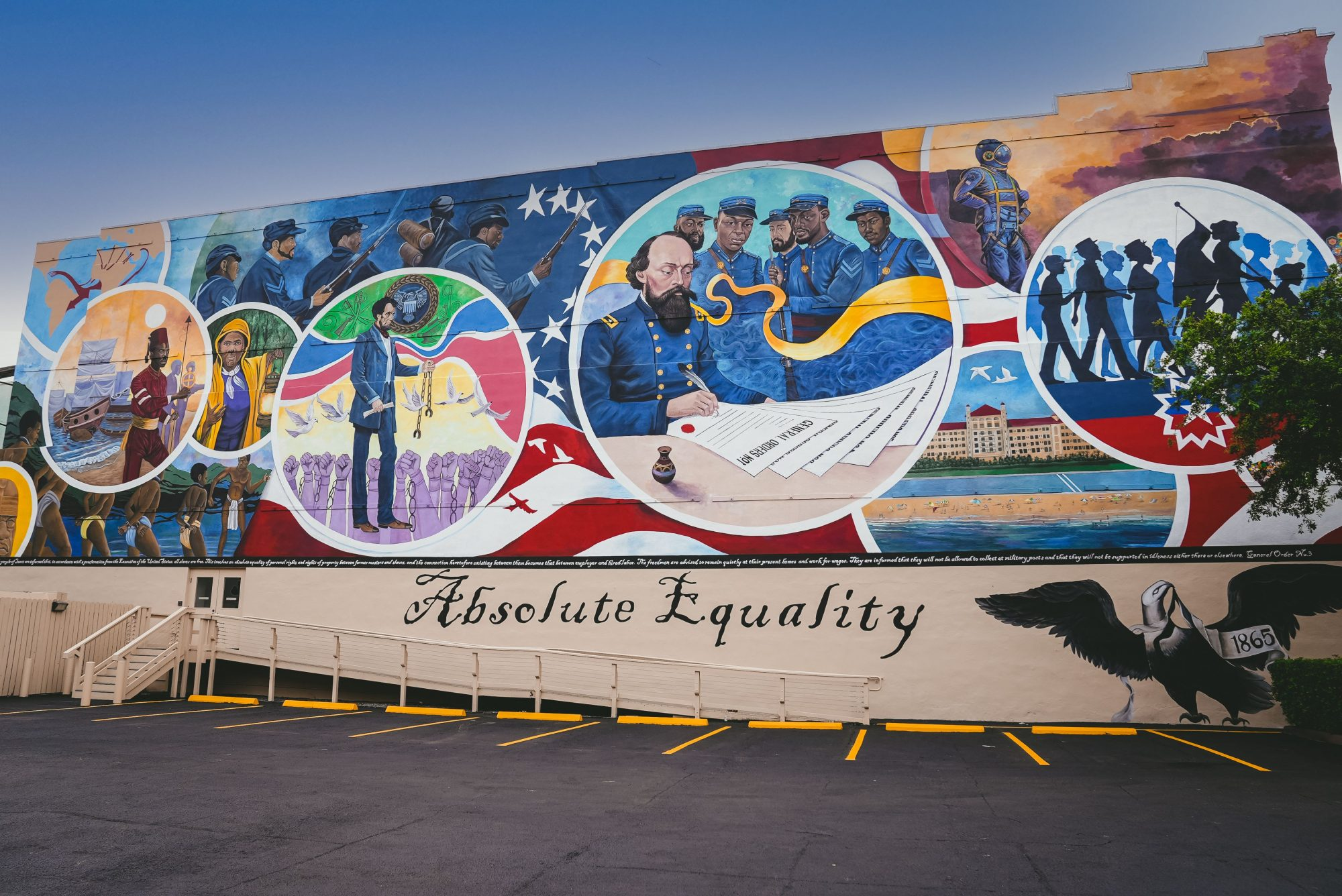 Galveston Juneteenth Absolute Equality Mural