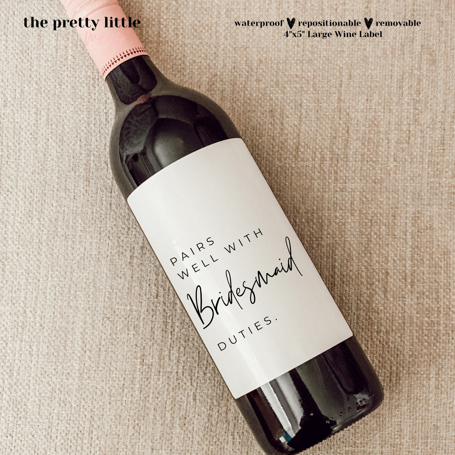 Wine Label Bridesmaid Gifts