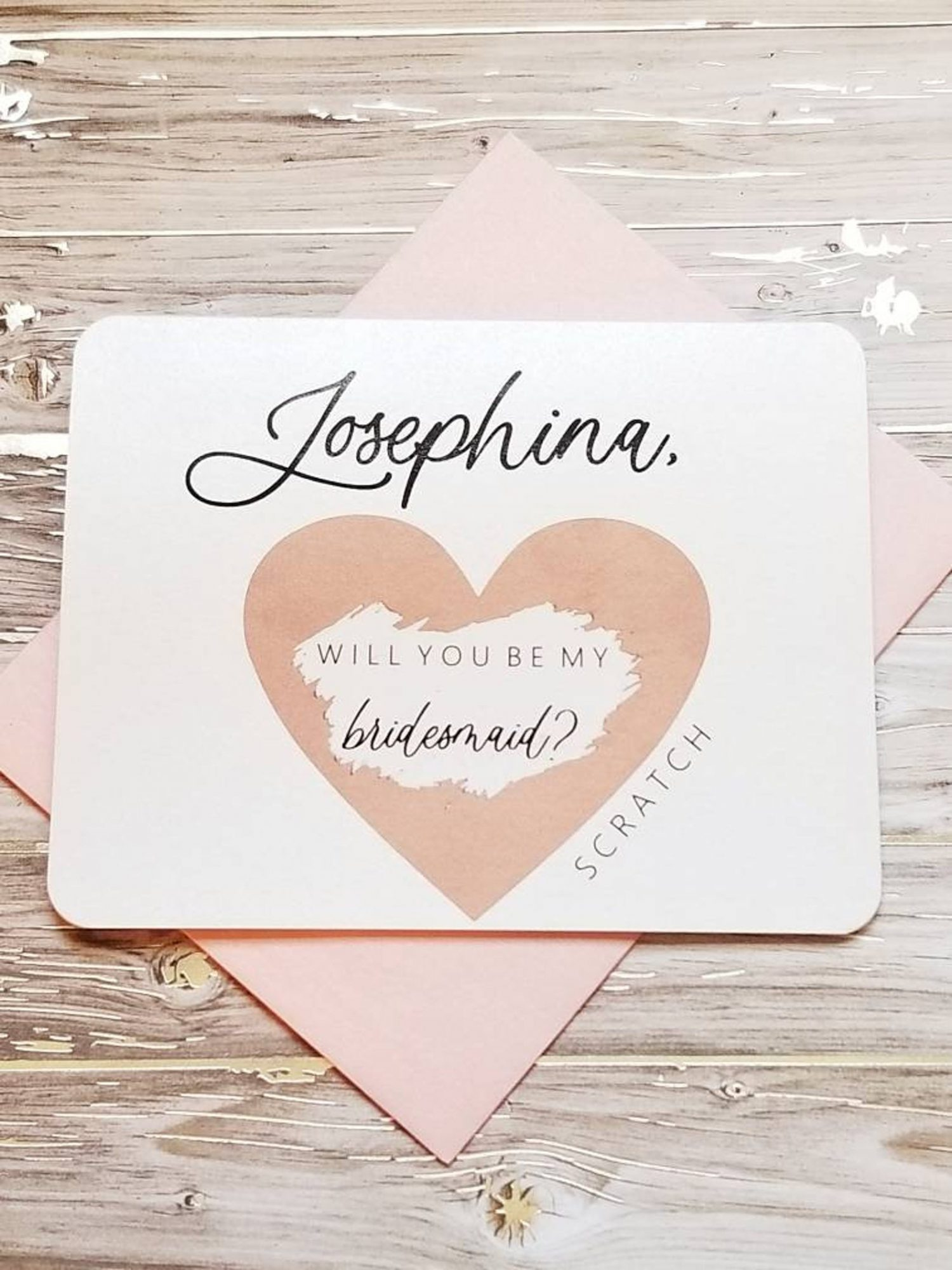 Scratch Off Card Bridesmaid Gift