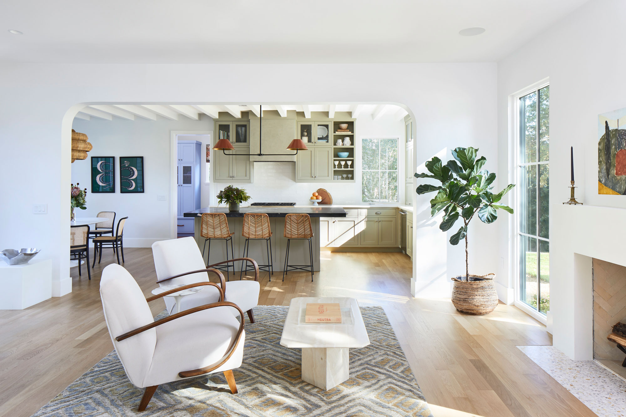 Open Floor Plan with Architectural Elements
