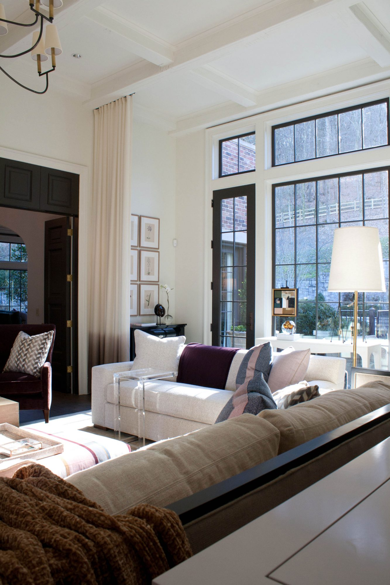 Contrasting White Walls and Dark Windows