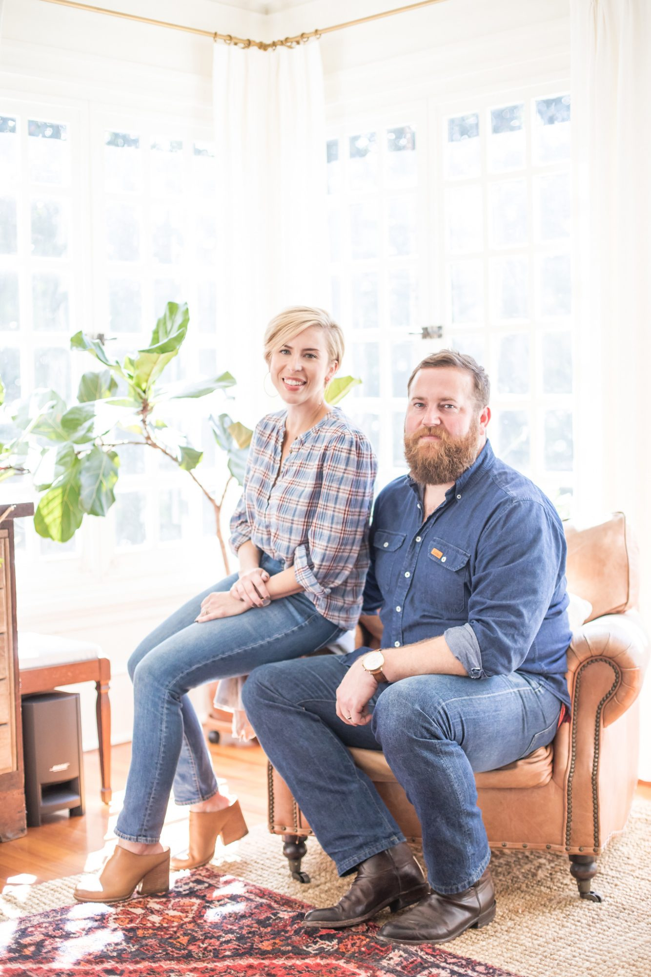 Ben and Erin Napier Seated