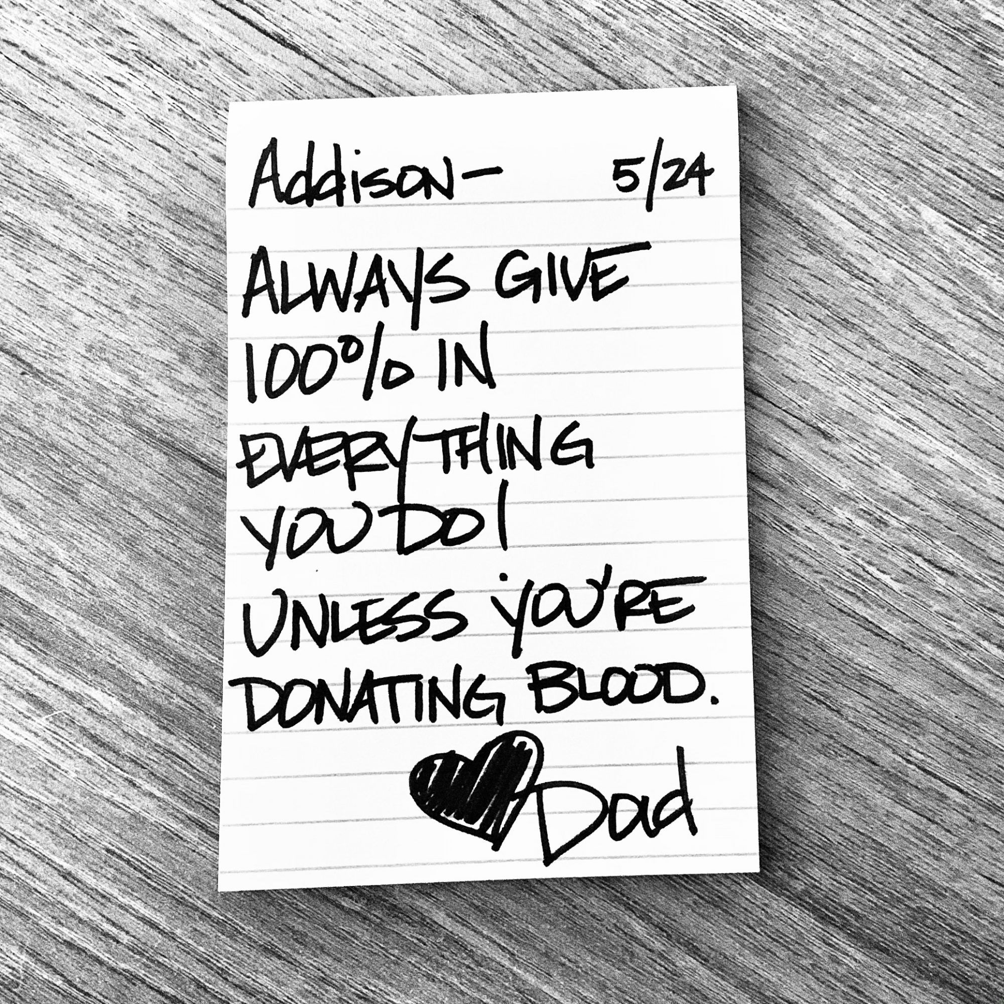 Dad Lunch Note