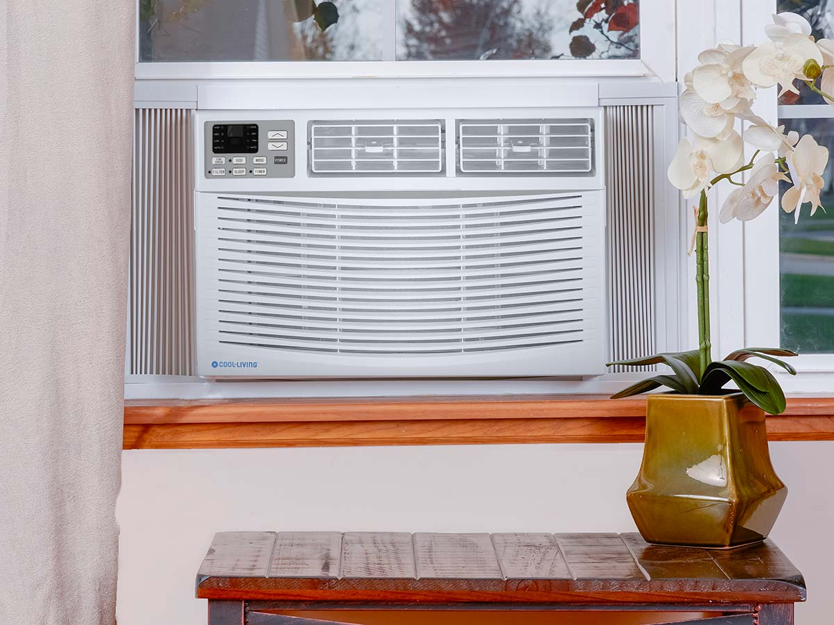 Cool-Living 10,000 BTU 115-Volt Window Air Conditioner with LCD Display and Remote