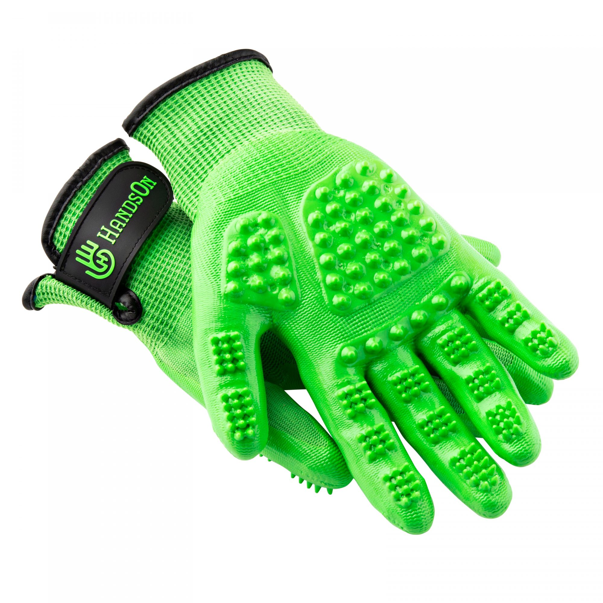 HandsOn All-In-One Pet Bathing & Grooming Gloves