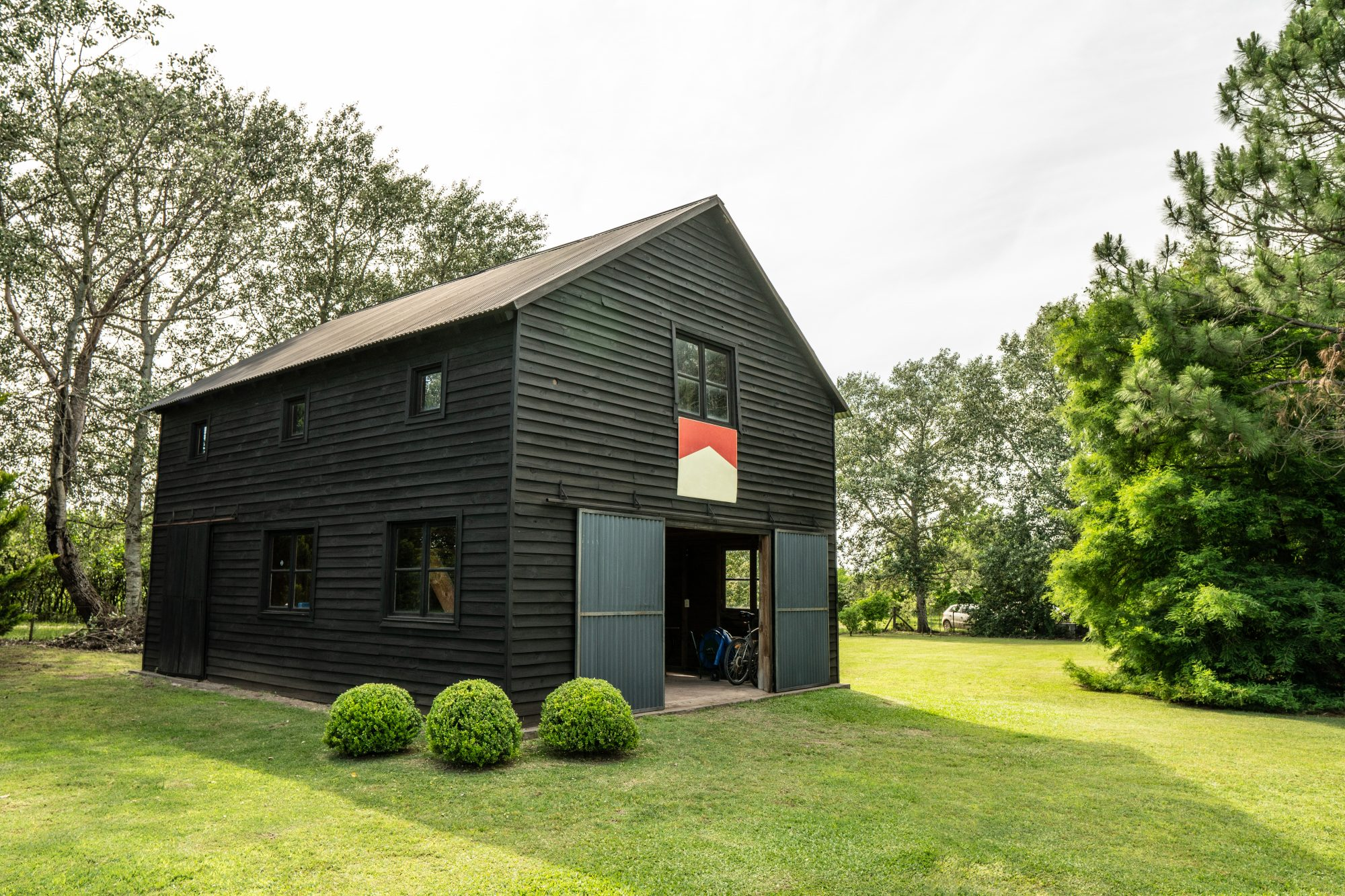 Dark Brown Barn with Upstairs Apartment