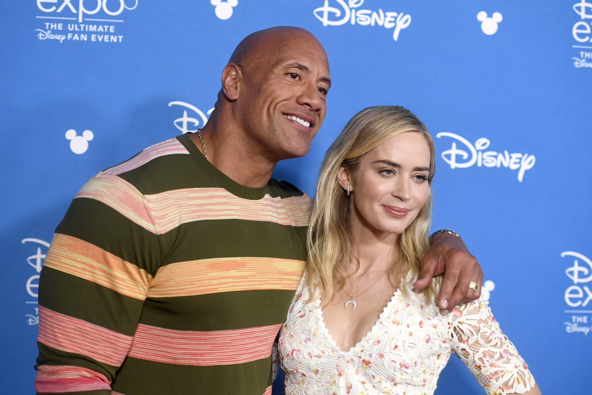 Dwayne The Rock Johnson and Emily Blunt