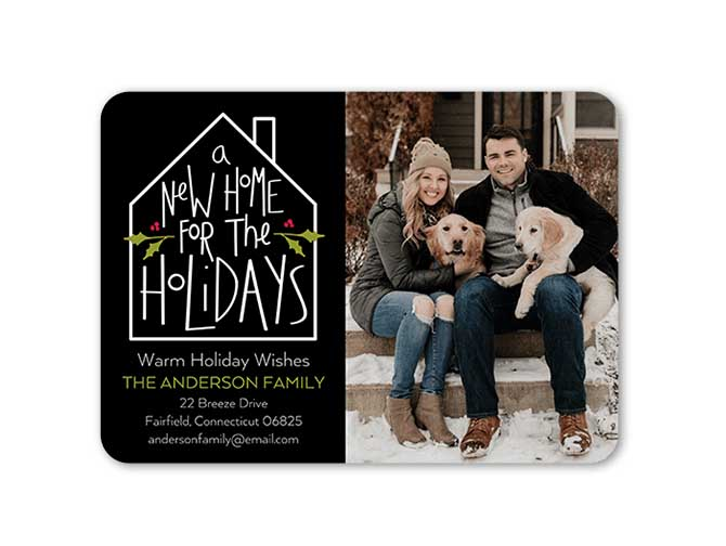 New Home for the Holidays Moving Announcement