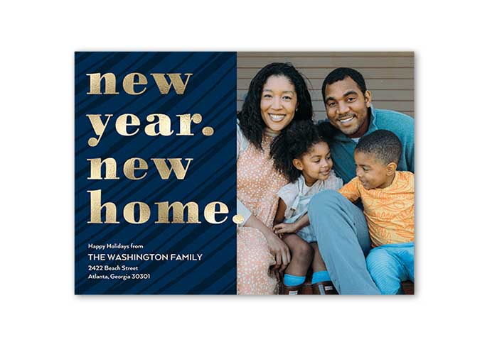 New Year New Home Moving Announcement