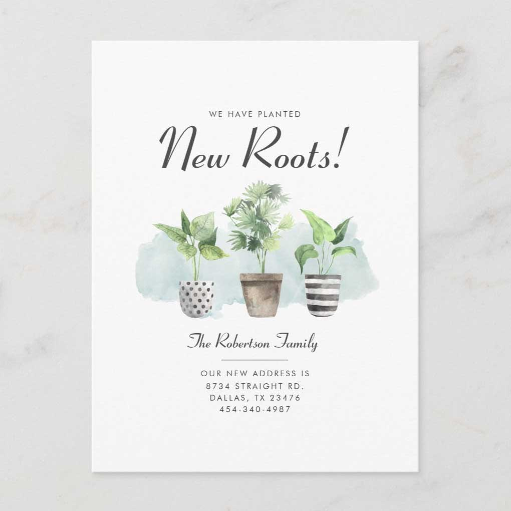 New Roots Moving Card