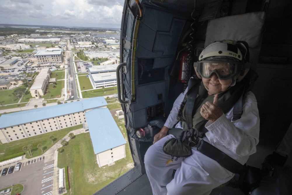 Ima Black 100th Birthday Helicopter Ride