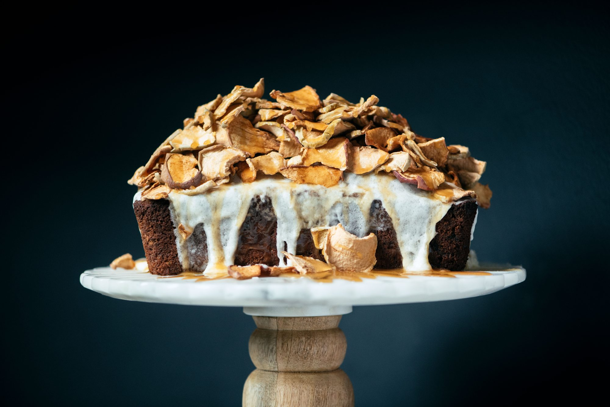 Amanda Mack's Apple-Almond Spice Cake with Brown Butter Frosting