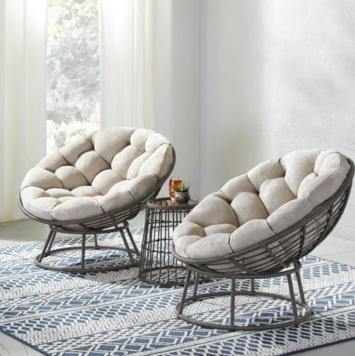 Tuckberry 3 Piece Set withPutty Tan Cushions