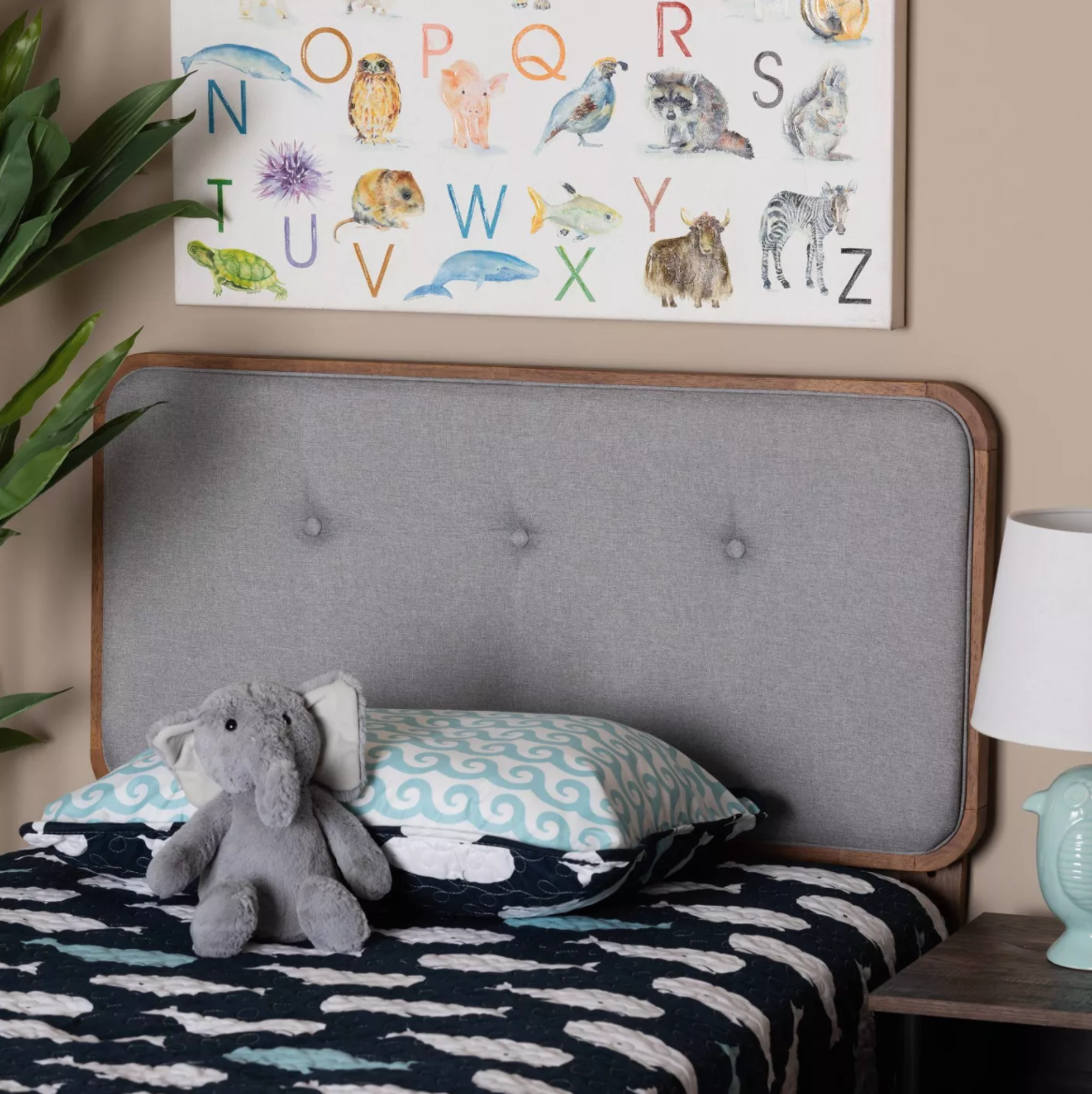 Target Wood and Upholstered Headboard