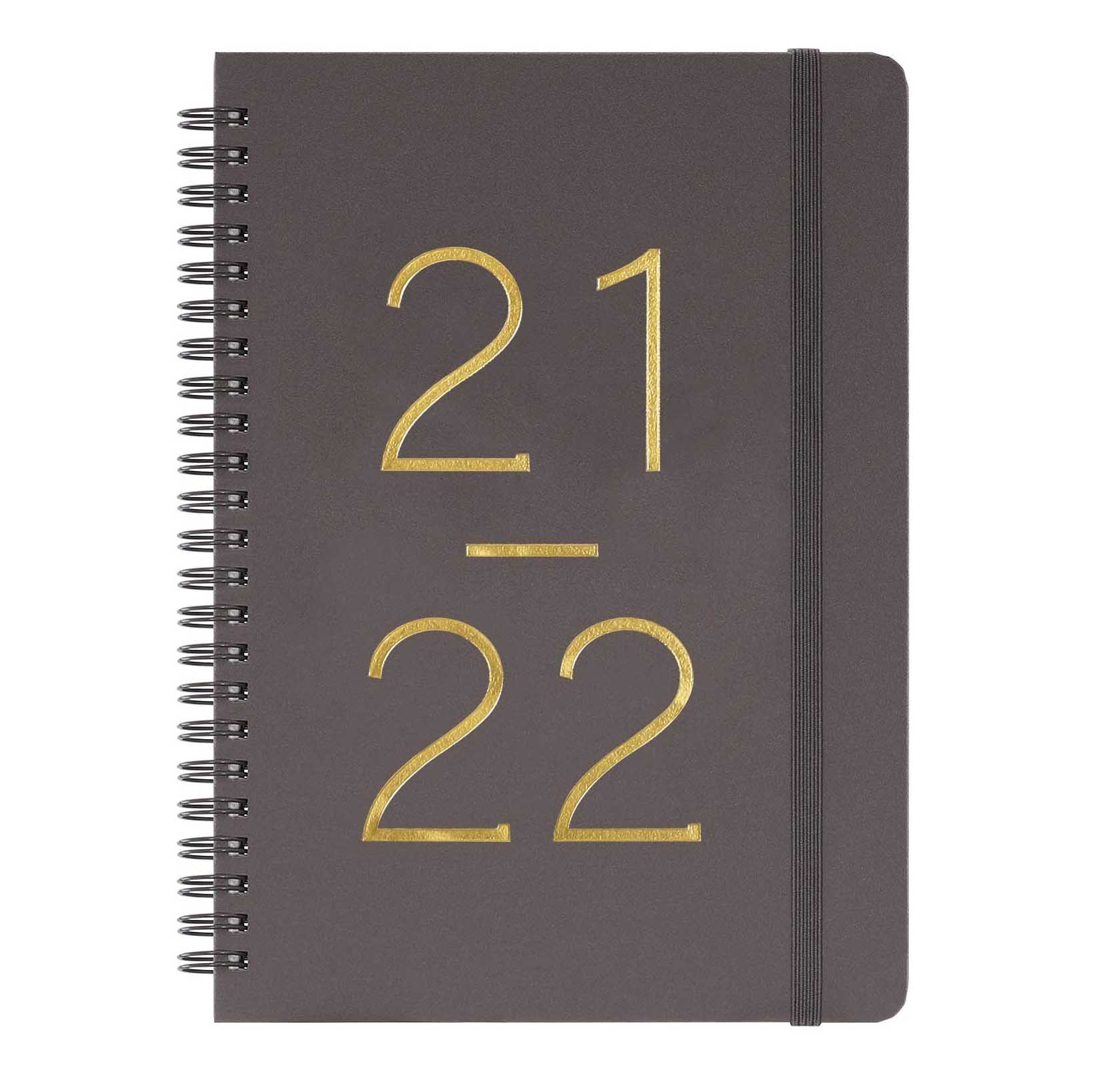 Frasukis Academic Planner 2021-2022 Flexible Cover with Twin-Wire Binding, Banded