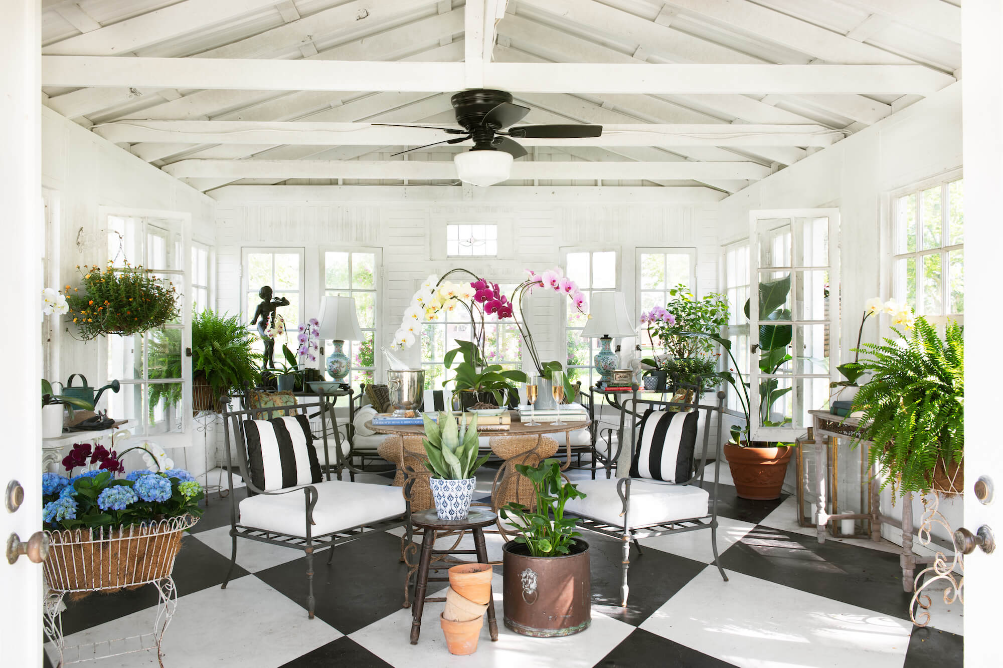 Thomas Guy Interiors carriage house and garden shed