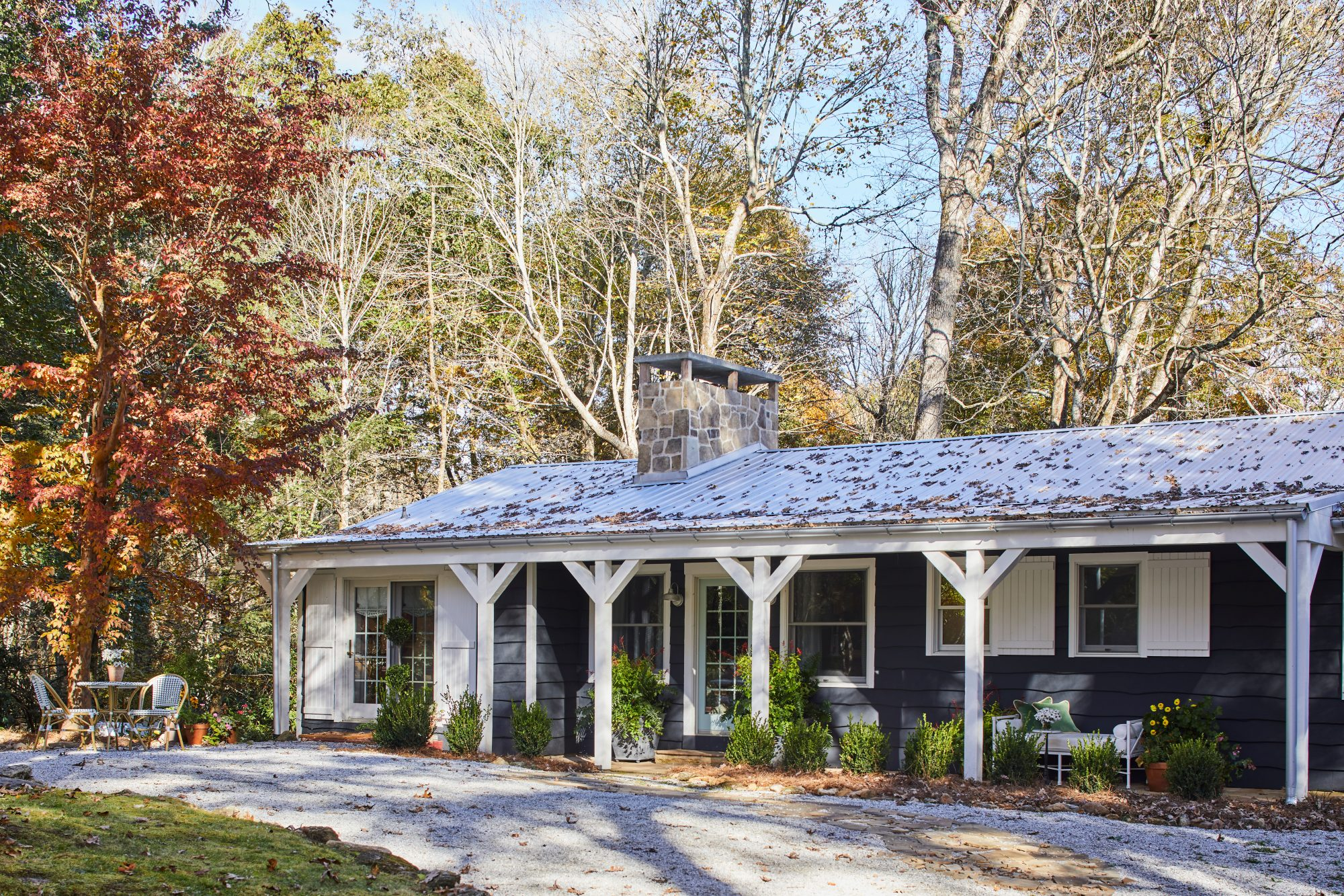 Dark Mountain Cottage with Metal Roof