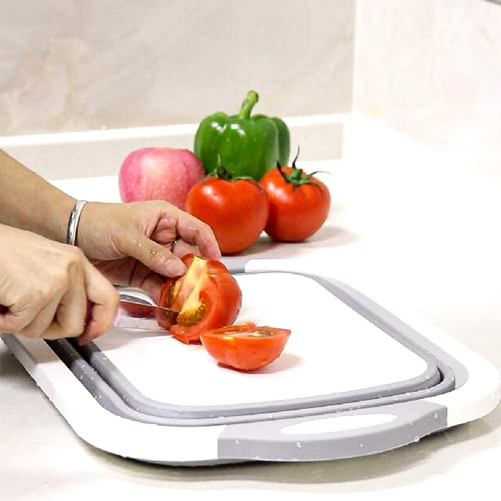 Cutting Board with Colander