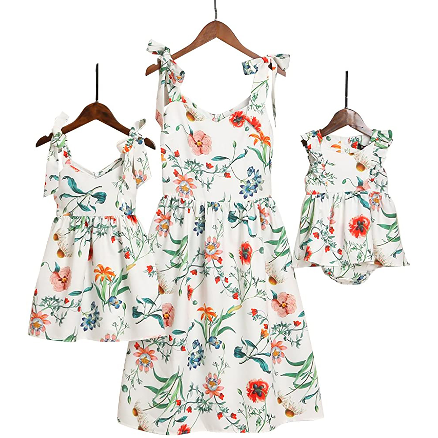 PopReal Mommy and Me Floral Printed Dresses