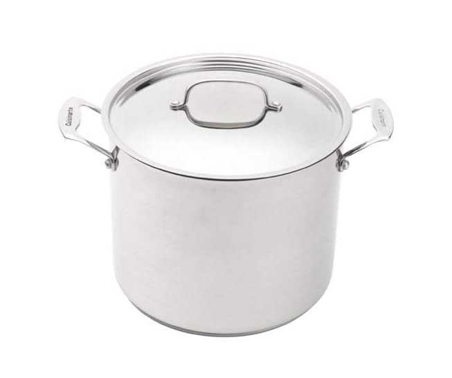 Cuisinart Chef's Classic 12-Quart Stockpot with Cover in Brushed Stainless