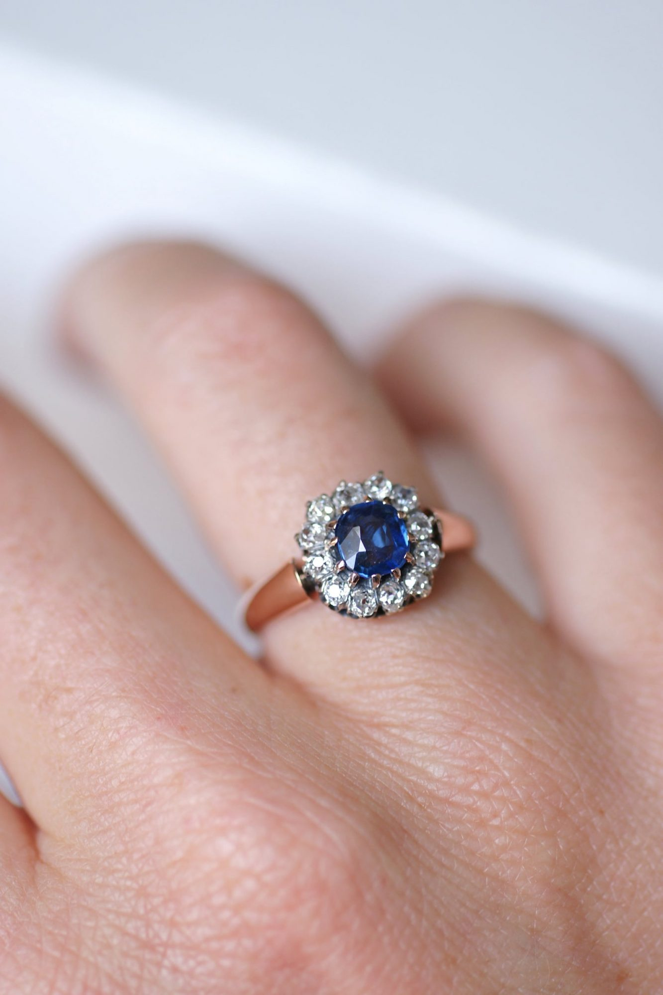 French Sapphire Edwardian ring