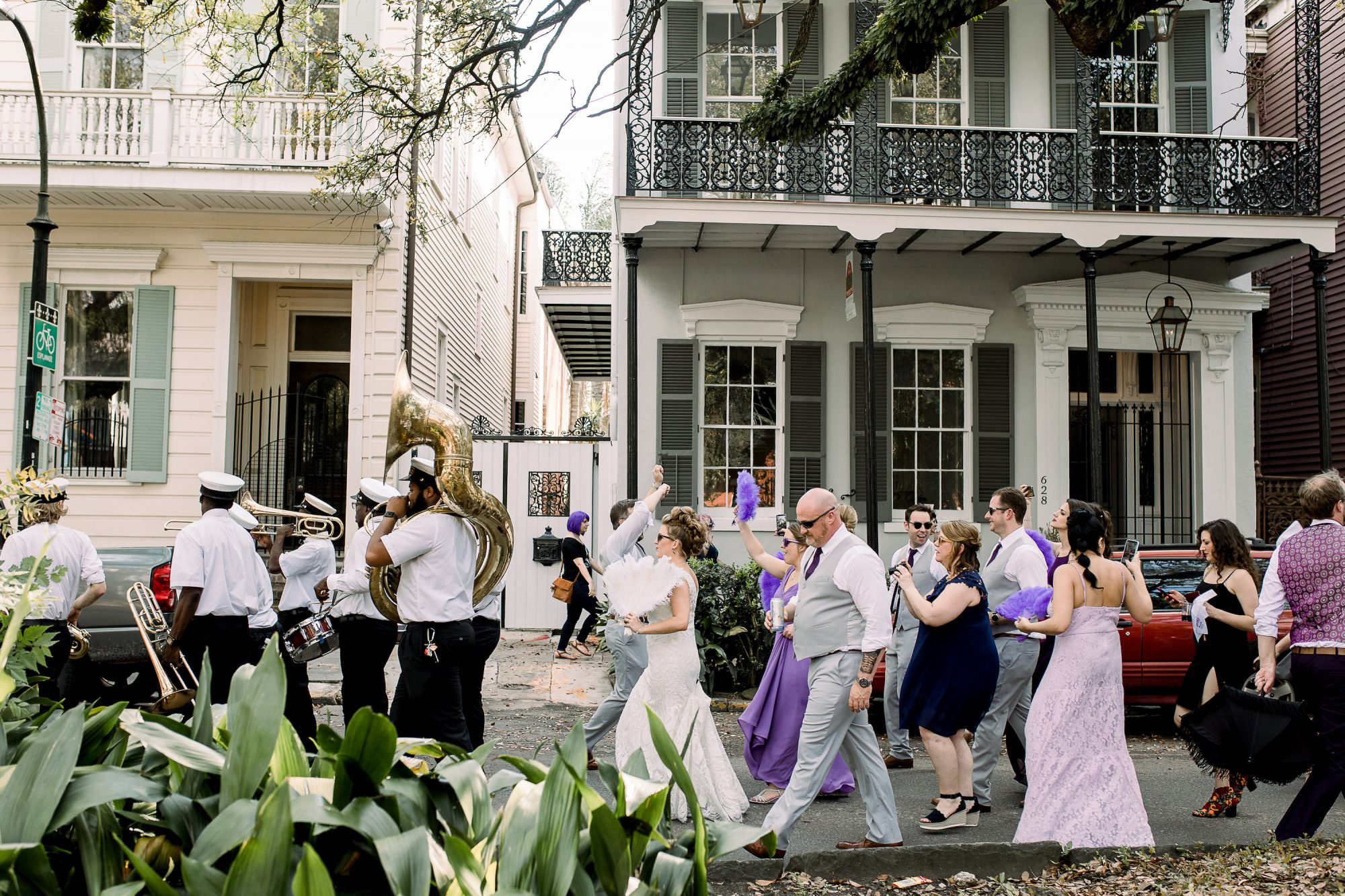 Second Line in New Orleans by Theresa Elizabeth Photography