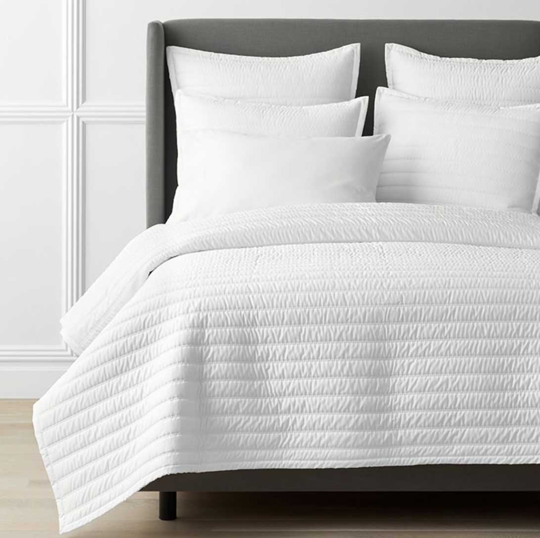 Legends Hotel Wrinkle-Free Cotton Sateen Quilted Coverlet