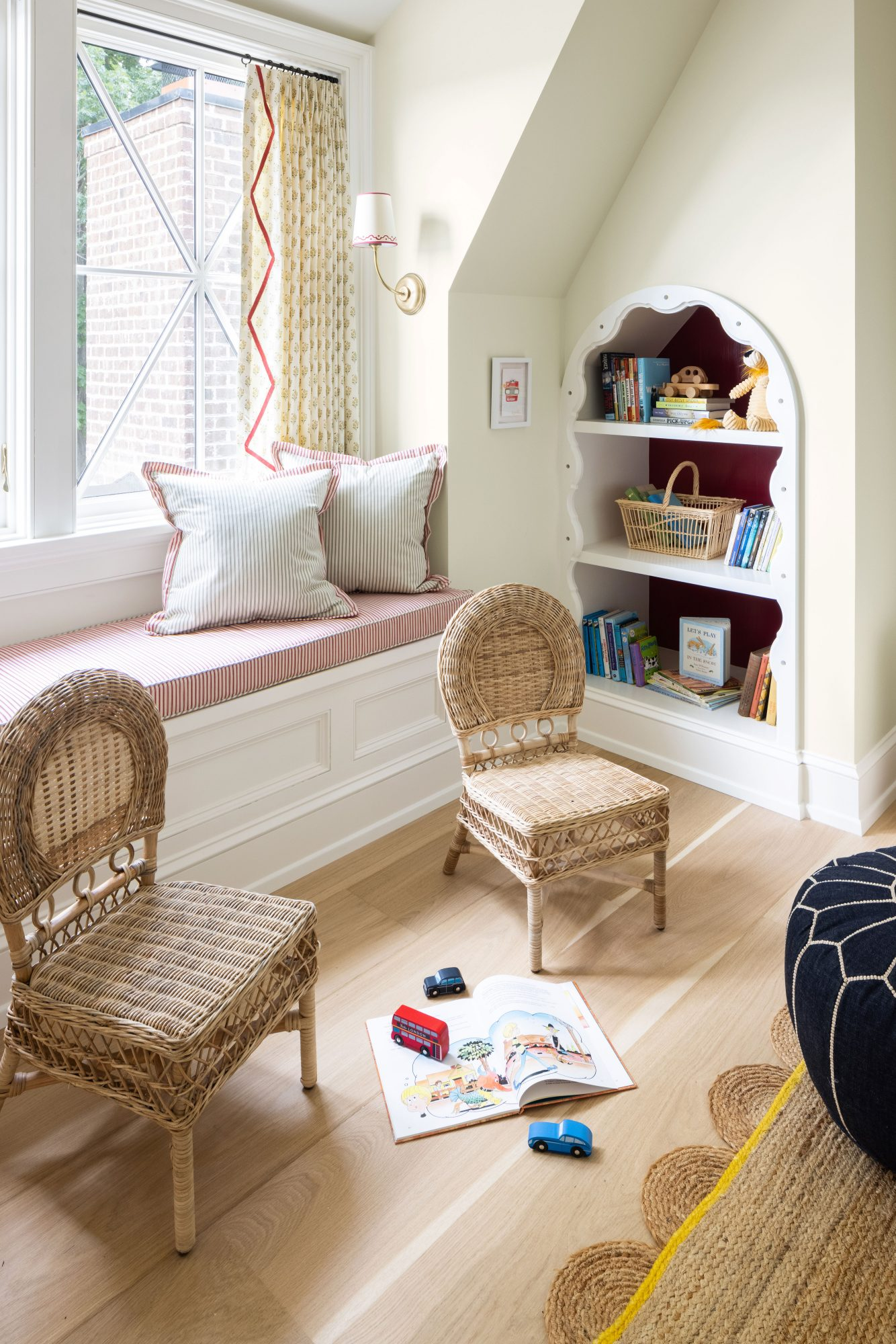 2021 Idea House Kids' Study and Playroom Reading Nook
