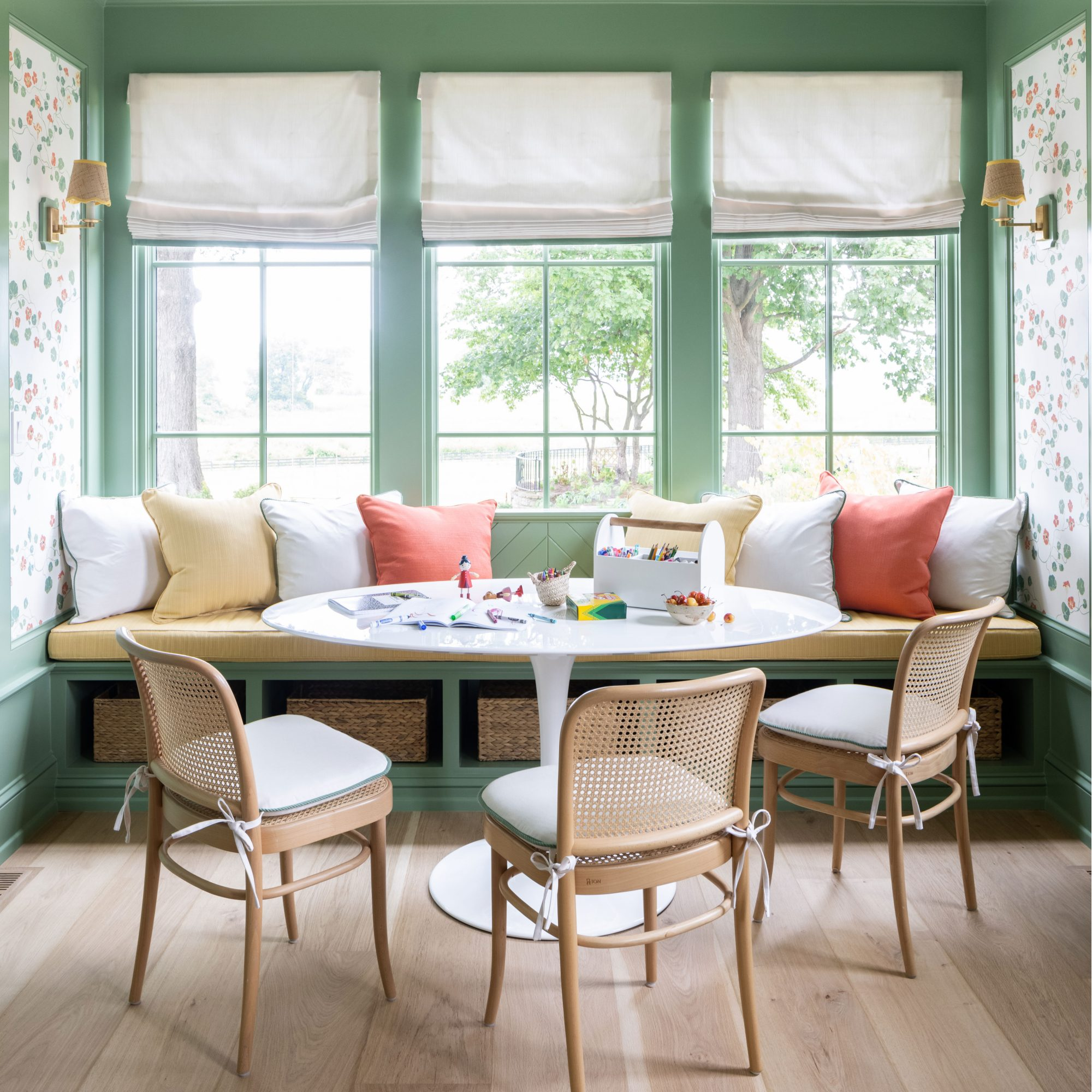 2021 Idea House Study Breakfast Nook with Banquet Seating