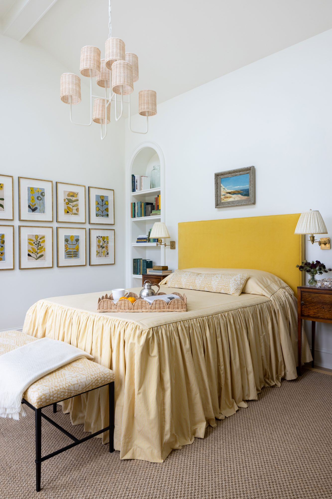 2021 Idea House Guest Bedroom in Yellow
