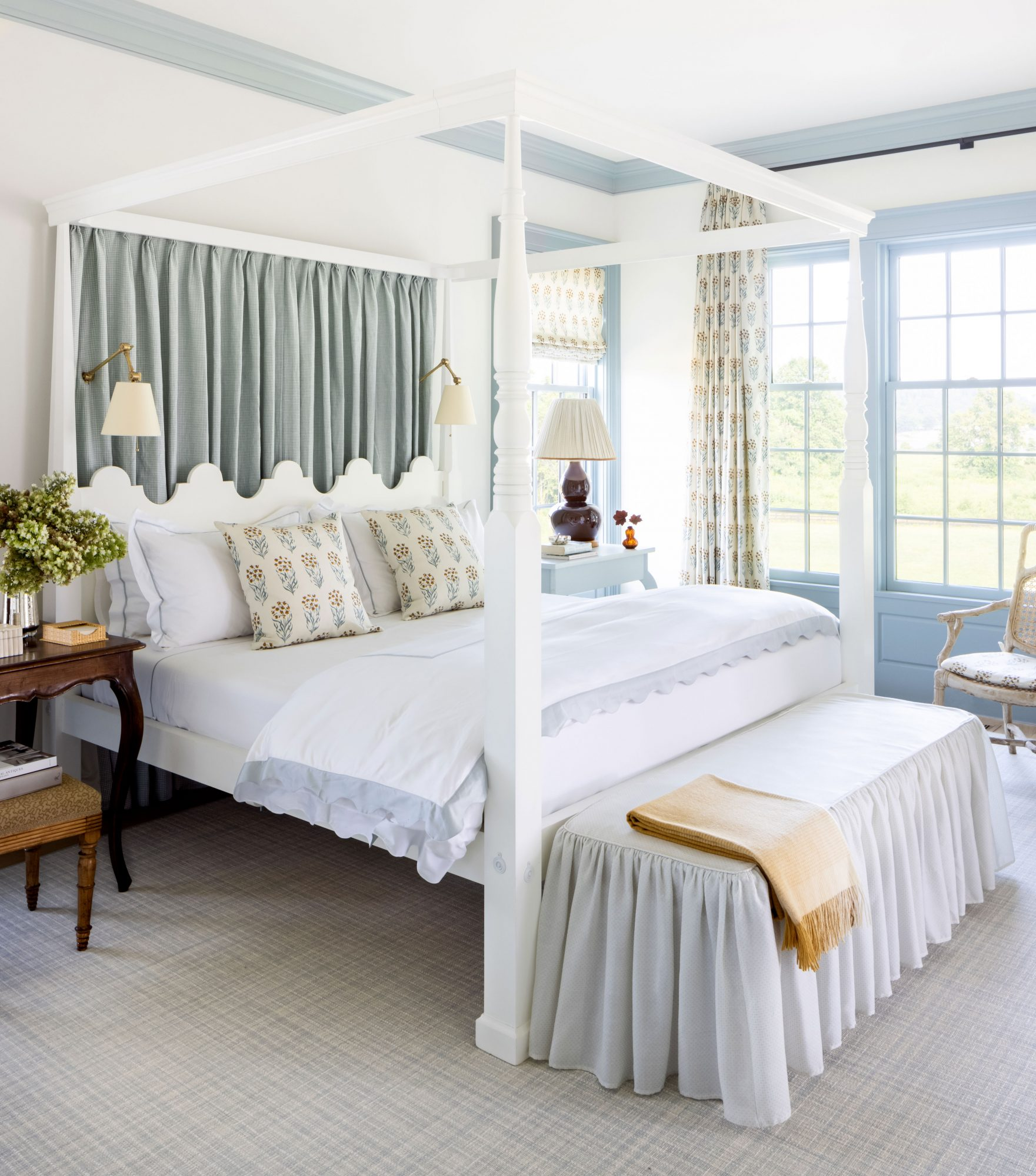 2021 Idea House Main Bedroom in Blue and White