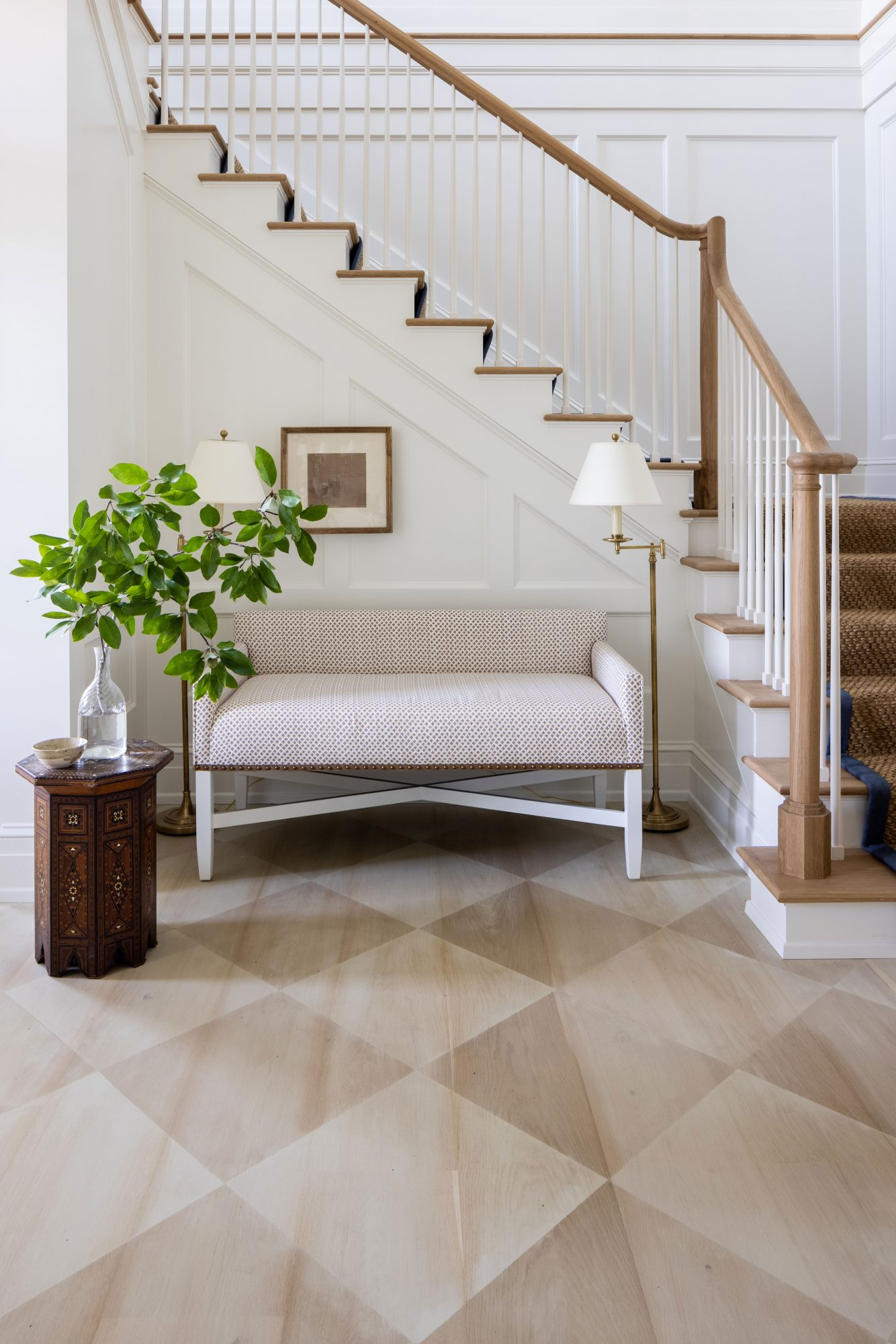 2021 Idea House Entry Stairway with Painted Floors